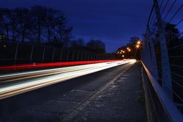 speeding car lights