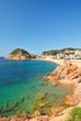 am Strand von Tossa de Mar an der Costa Brava