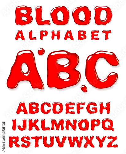 Blood alphabet.