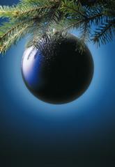 palla di natale blu