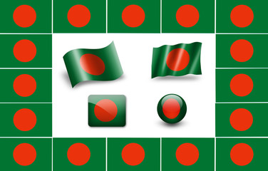 Sovereign state flag of country of Bangladesh