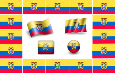 Sovereign state flag of country of Ecuador