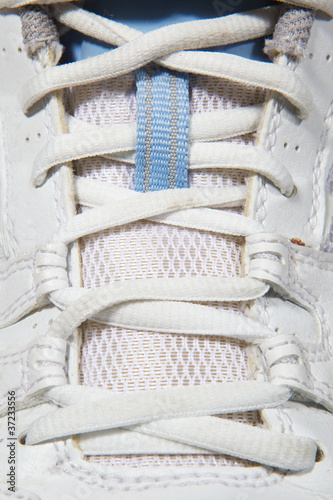 Laced on sports shoes
