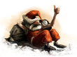 Santa Claus caricature