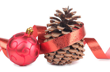 Cones and christmas ball