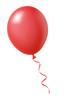 Leinwanddruck Bild - Roter Luftballon