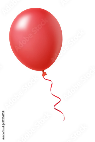 Leinwanddruck Bild Roter Luftballon