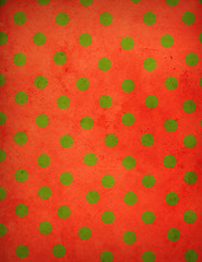 Vintage Christmas Polka Dot Background