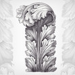 vintage engraving acanthus ornament foliage