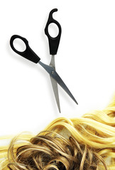 scissors and hair