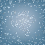 Handwritten quirky Merry Christmas background poster