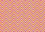 Bright chevron red, orange and white, vector pattern. poster