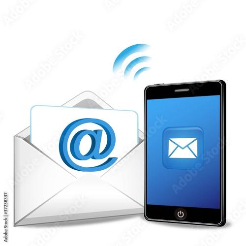 ベクター、スマートフォンでメール送信
