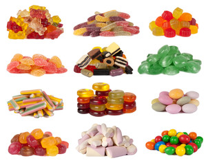 Candies isolated on white