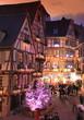 Leinwandbild Motiv Marché de noël, Alsace