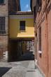 Alleyway. Ferrara. Emilia-Romagna. Italy.