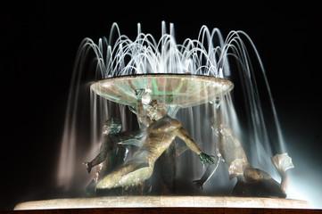 The Triton Fountain In Valletta, Malta