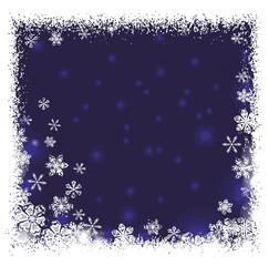 hintergrund | rahmen | schneeflocken | blau