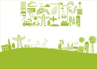 vector - green banner