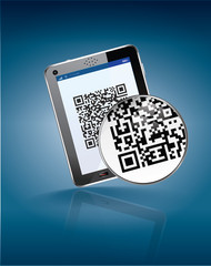 mobiltag, flash code, qr code for Tactile tabl