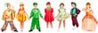 Leinwanddruck Bild - Children in bright fancy dress