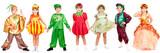 Children in bright fancy dress