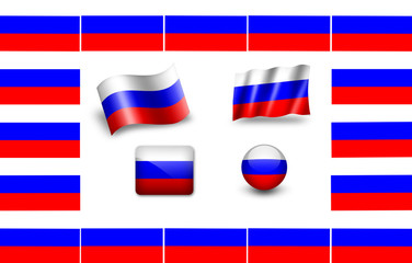 Flag of Russia.icon set. flags frame
