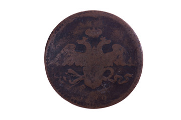 Russian copper coin of 18 century