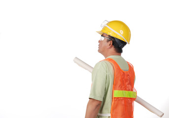 construction man looking at