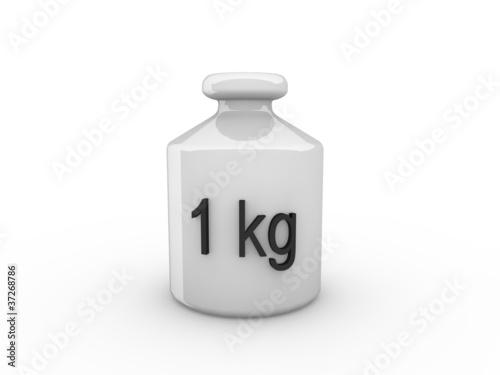 3d Rendering Gewicht 1kg