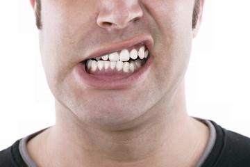 baring teeth
