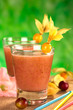 Juice out of Camu camu berry fruits (lat. Myrciaria dubia)