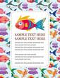 cartoon aquatic animal card