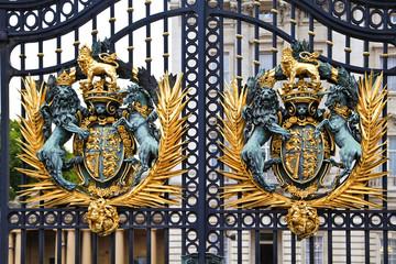 Royal Coat of Arms at Buckingham Palace