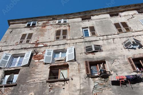 immeuble délabré