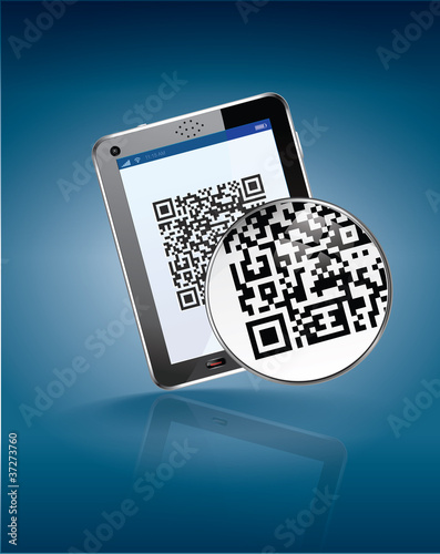 mobiltag, flash code, qr code for Tactile tablet