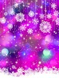 Colorful background with snowflakes. EPS 8