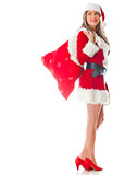 Mrs Claus with gift sack