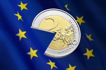Euro mit Fahne