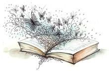 Buch mit Schmetterlingen (Cbm Malerei)