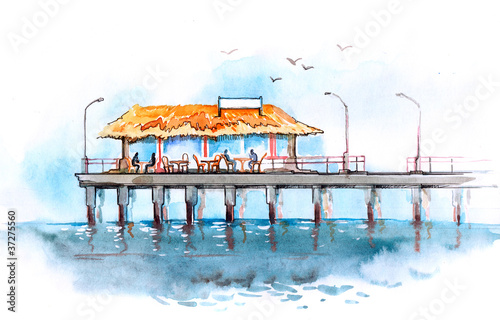 restaurant on the pier