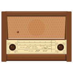 Vector illustration of an old radio