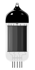 Vector illustration of an old vacuum tube. EPS10