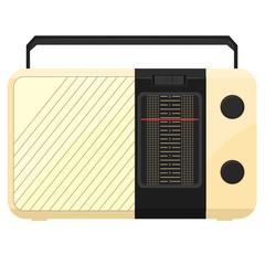 Vector illustration of a portable radio