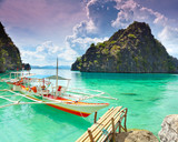 Fototapete Boats - Pfeiler - Meer / Ozean