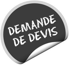 TF-Sticker rund curl unten DEMANDE DE DEVIS