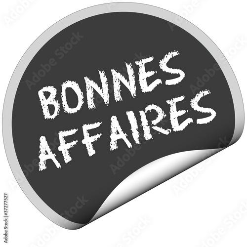 TF-Sticker rund curl unten BONNES AFFAIRES