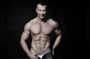 Sexy muscular macho man