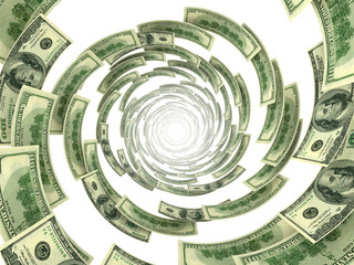 spinning money vortex