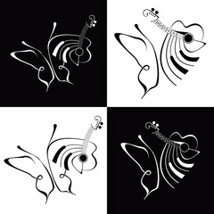 Music - abstract vector illustration